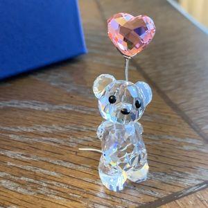 Swarovski Figurine- Kris Bear w Heart Balloon